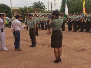 Celebración de los 125 años de la Policía Nacional en Puerto Carreño Vichada. Foto: Facebook Marcos Pérez Jiménez