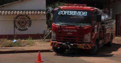 El apuro de los bomberos de Puerto Carreño