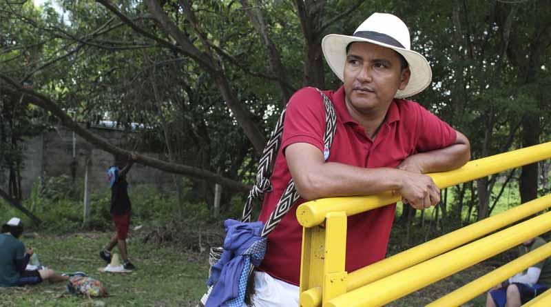 Cesar Mora, el caminante guainiano que marchó desde Manizales hasta Bogotá