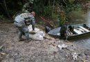 Armada de Colombia incauta más de una tonelada de insumos sólidos para el procesamiento de cocaína, en Guainía