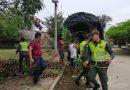 Policía del Guainía realizó jornada de embellecimiento en el barrio La Esperanza