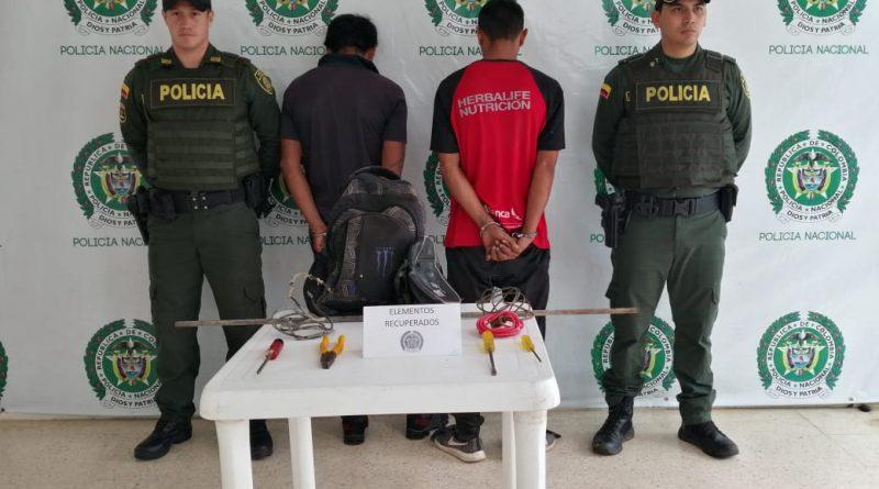 Policía realizó dos capturas en Inírida por el delito de hurto calificado