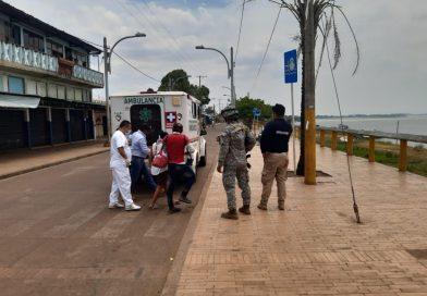 Armada de Colombia asiste a joven venezolana en estado de embarazo  en Puerto Carreño