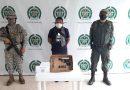 Una persona capturada por porte ilegal de arma de fuego