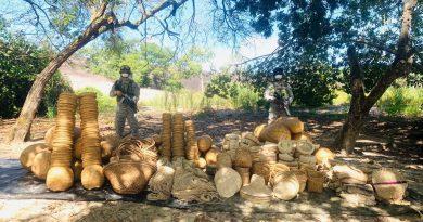 Armada Nacional incauta material de contrabando en Casuarito