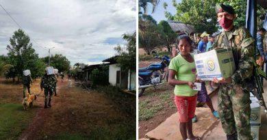 Ejército Nacional entregó ayuda humanitaria en zona rural de Cumaribo