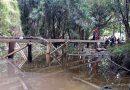 Con sus propios medios indígenas construyen puente en la comunidad de Concordia
