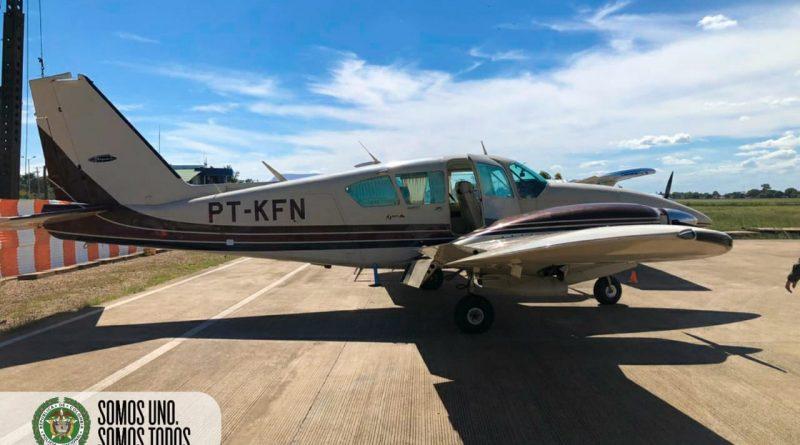 Video: Policía encontró rastros de cocaína en aeronave ilegal obligada a aterrizar en Puerto Carreño