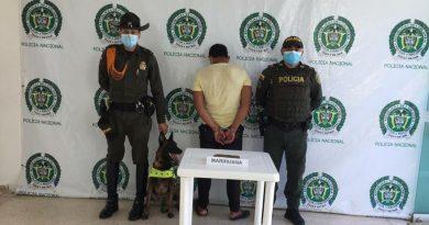 Capturan en Inírida a una persona con un kilogramo de 'marihuana'