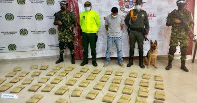 Incautan 25 kilogramos de marihuana en Puerto Carreño