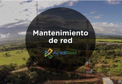 Andired anuncia intermitencia en servicios de internet y telefonía, por mantenimiento