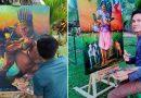 El artista que pinta las tradiciones culturales de Guainía